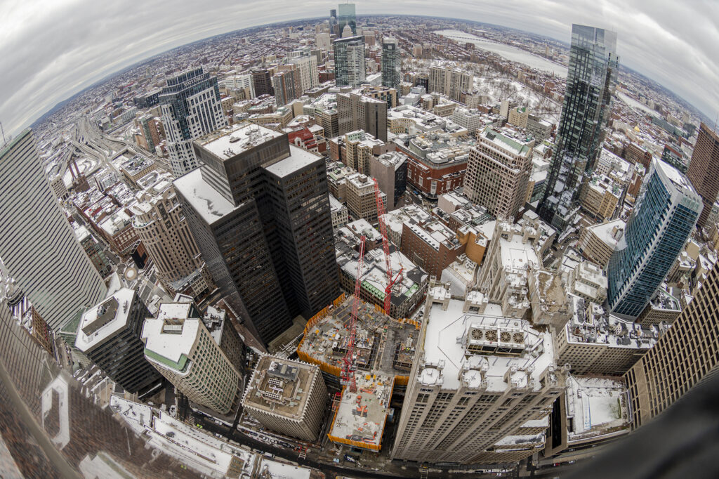 Boston from Above by Lou Jones